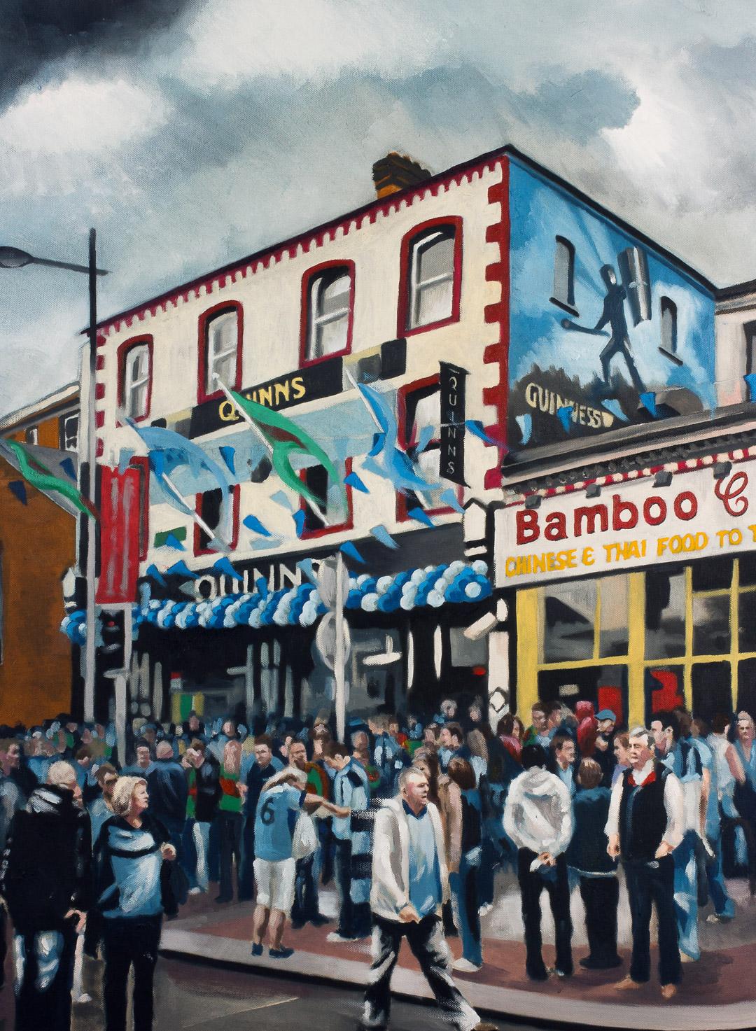 Quinns Pub Dublin Painting by Niall Laird